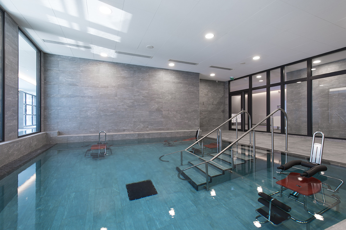 bassin d'aquaforme Grand Spa Thermal de Brides-les-Bains