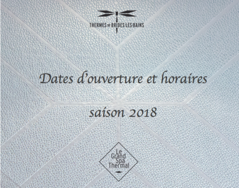 Saison thermale 2018 Thermes de Brides-les-Bains