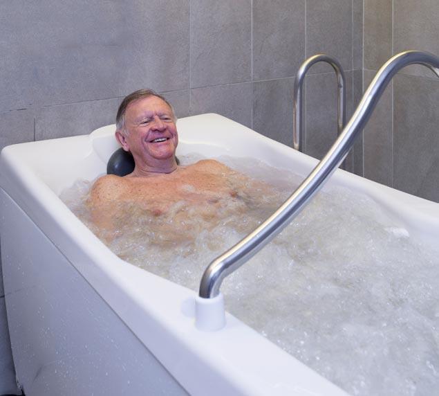 Bain douche en immersion